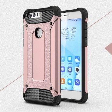 """Strapabíró """"Rock"""" védőtok Huawei Honor 8 készülékekhez – rózsaszín"""