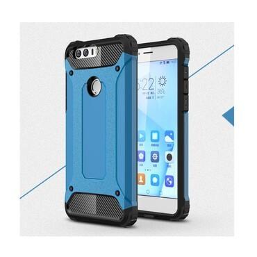 """Strapabíró """"Rock"""" védőtok Huawei Honor 8 készülékekhez – kék"""