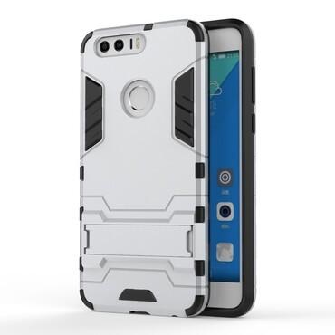 """Strapabíró """"Impact X"""" védőtok Huawei Honor 8 készülékekhez – ezüstszínű"""