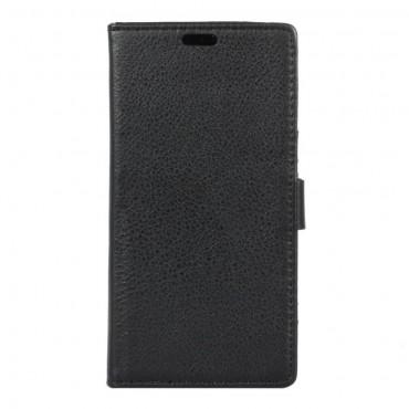 """Elegáns """"Litchi"""" tárca Huawei Honor 8 készülékekhez – fekete"""