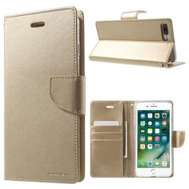 Goospery Bravo Diary tárca iPhone 8 Plus / iPhone 7 Plus készülékekhez – aranyszínű