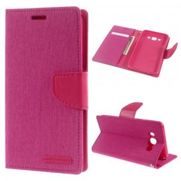 Goospery Canvas Diary tárca Samsung Galaxy J7 2016 készülékekhez – rózsaszín