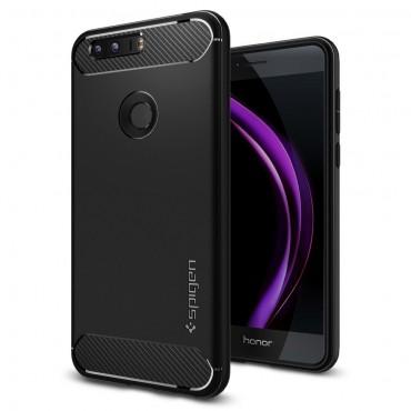 """Spigen """"Rugged Armor"""" védőtok Huawei Honor 8 készülékekhez – fekete"""