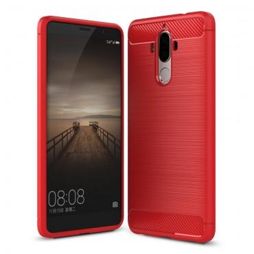 Brushed Carbon TPU géles védőtok Huawei Mate 9 készülékekhez – piros