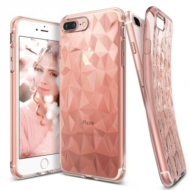 "Ringke ""Air Prism"" borító iPhone 8 Plus / iPhone 7 Plus telefonokhoz - rose gold"