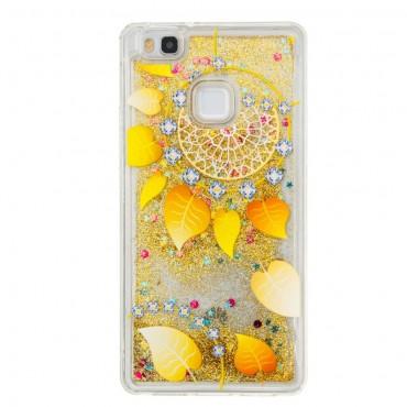 Liquid Glitter divatos védőtok Huawei P9 Lite készülékekhez – aranyszínű