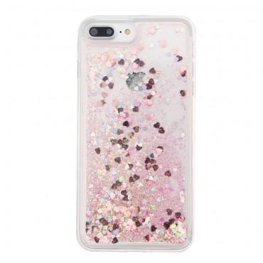 Liquid Glitter divatos védőtok iPhone 8 Plus / iPhone 7 Plus készülékekhez – rózsaszín