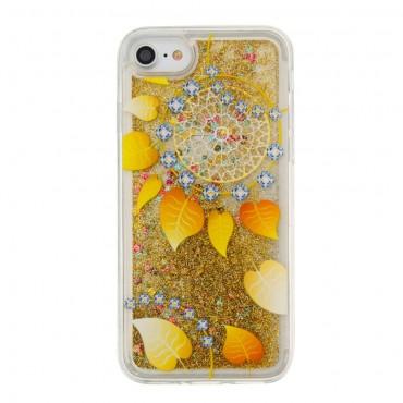 Liquid Glitter divatos védőtok iPhone 8 / iPhone 7 készülékekhez – barna