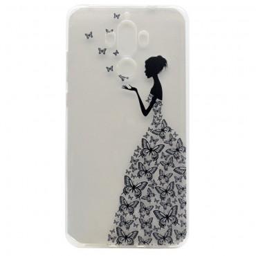 """Vékony TPU géles """"Butterfly Dress"""" védőtok Huawei Mate 9 készülékekhez"""