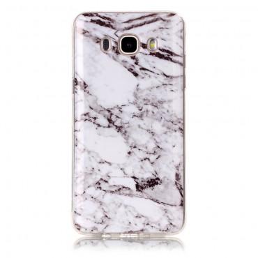Marble divatos védőtok Samsung Galaxy J5 2016 készülékekhez – fehér