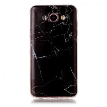 Marble divatos védőtok Samsung Galaxy J7 2016 készülékekhez – fekete