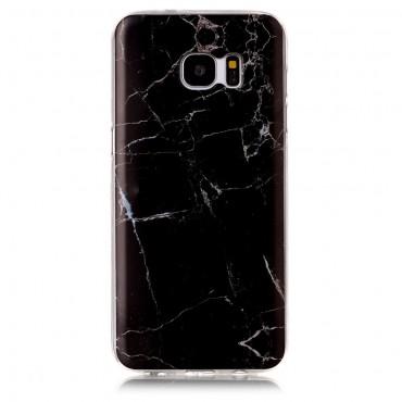 Marble divatos védőtok Samsung Galaxy S7 Edge készülékekhez – fekete