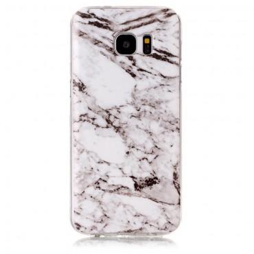 Marble divatos védőtok Samsung Galaxy S7 Edge készülékekhez – fehér