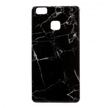 Marble divatos védőtok Huawei P9 Lite készülékekhez – fekete