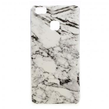 Marble divatos védőtok Huawei P9 Lite készülékekhez – fehér
