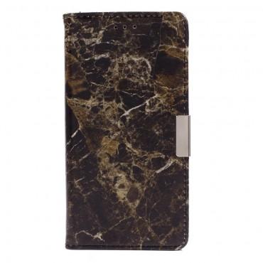 """Divatos """"Marble"""" tárca Samsung Galaxy A5 2016 készülékekhez – fekete"""