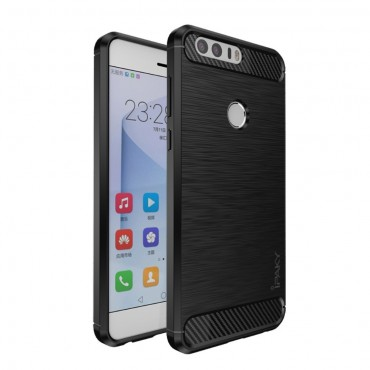 Brushed Ipaky TPU géles védőtok Huawei Honor 8 készülékekhez – fekete