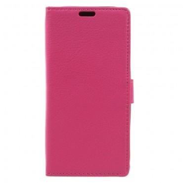 """Elegáns """"Litchi"""" tárca Samsung Galaxy A3 2017 készülékekhez – rózsaszín"""