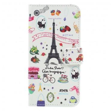 """Divatos """"Paris Touch"""" tárca Samsung Galaxy A5 2017 készülékekhez"""
