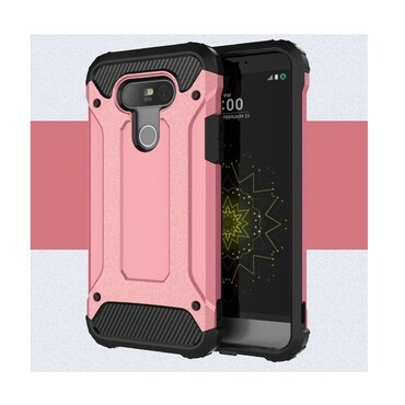 """Strapabíró """"Rock"""" védőtok LG G5 készülékekhez – rózsaszín"""
