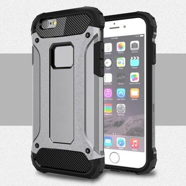 """Strapabíró """"Rock"""" védőtok iPhone 6 / 6S készülékekhez – szürke"""
