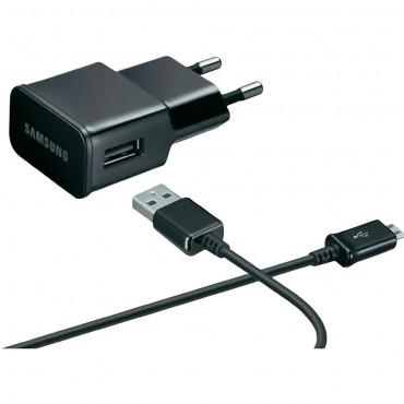 Eredeti fali töltő és Micro USB kábel Samsung ETA-0U90 - fekete (bulk)