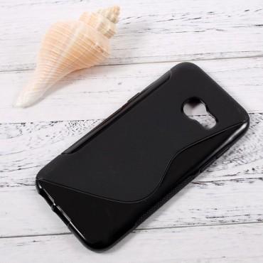 """TPU gél tok """"S-Line"""" Samsung Galaxy A3 2017 készülékekhez - fekete"""