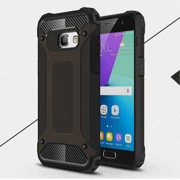 """Strapabíró """"Rock"""" védőtok Samsung Galaxy A3 2017 készülékekhez – fekete"""