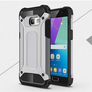"""Strapabíró """"Rock"""" védőtok Samsung Galaxy A3 2017 készülékekhez – szürke"""