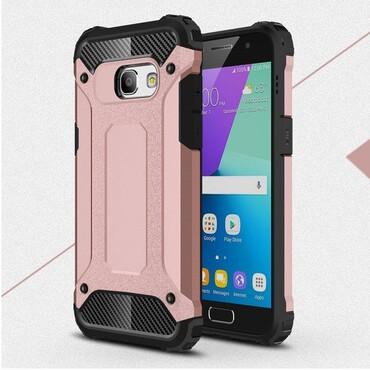 """Strapabíró """"Rock"""" védőtok Samsung Galaxy A3 2017 készülékekhez – rózsaszín"""