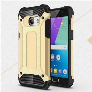"""Strapabíró """"Rock"""" védőtok Samsung Galaxy A3 2017 készülékekhez – aranyszínű"""