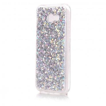 Liquid Glitter divatos védőtok Samsung Galaxy A5 2017 készülékekhez – ezüstszínű