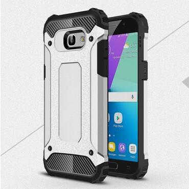 """Strapabíró """"Rock"""" védőtok Samsung Galaxy A5 2017 készülékekhez – ezüstszínű"""
