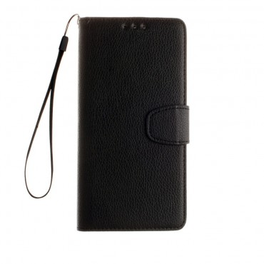 """Elegáns """"Litchi"""" műbőrtárca Samsung Galaxy S8 készülékekhez – fekete"""