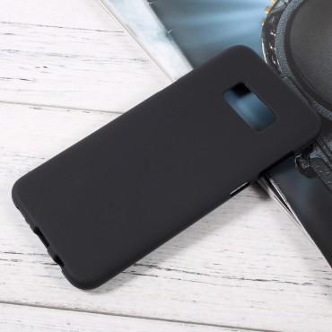 TPU géles védőtok Samsung Galaxy S8 Plus készülékekhez – fekete