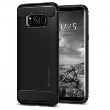 """Spigen """"Rugged Armor"""" védőtok Samsung Galaxy S8 készülékekhez – fekete"""