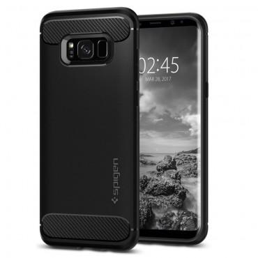 """Spigen """"Rugged Armor"""" védőtok Samsung Galaxy S8 Plus készülékekhez – fekete"""