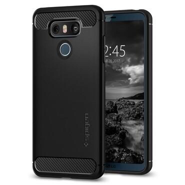 """Spigen """"Rugged Armor"""" védőtok LG G6 készülékekhez – fekete"""