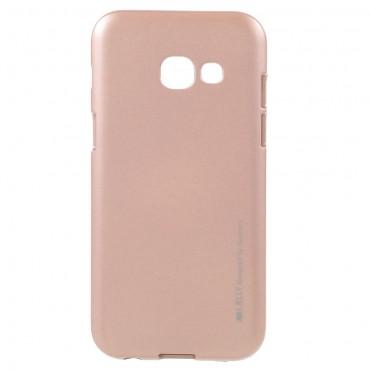 Goospery iJelly Case TPU géles védőtok Samsung Galaxy A3 2017 készülékekhez – rózsaszín