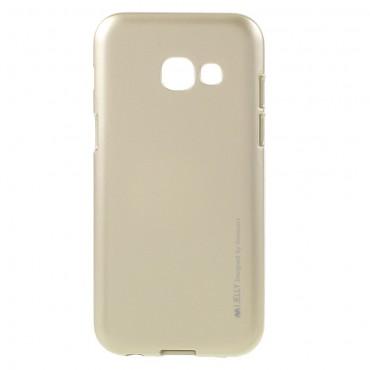 Goospery iJelly Case TPU géles védőtok Samsung Galaxy A3 2017 készülékekhez – aranyszínű