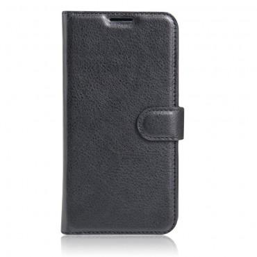 """Elegáns """"Litchi"""" tárca LG K10 2017 készülékekhez – fekete"""