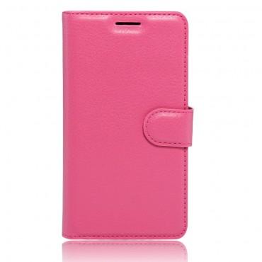 """Elegáns """"Litchi"""" tárca LG K10 2017 készülékekhez – rózsaszín"""