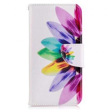"""Divatos """"Color Petals"""" tárca LG K10 2017 készülékekhez"""