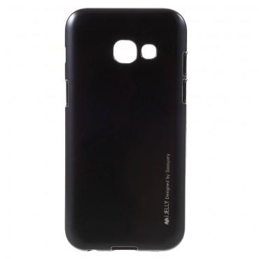 Goospery iJelly Case TPU géles védőtok Samsung Galaxy A3 2017 készülékekhez – fekete