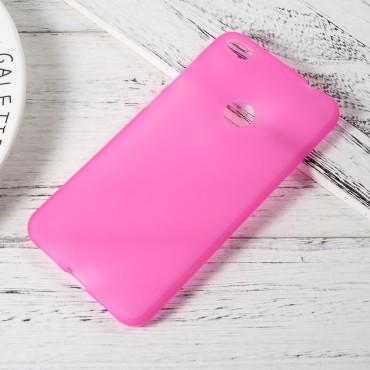TPU géles védőtok Huawei Honor 8 Lite / P8 Lite 2017 / Nova Lite készülékekhez – rózsaszín