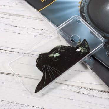 """Vékony TPU géles """"Black Cat"""" védőtok Huawei Honor 8 Lite / P8 Lite 2017 / Nova Lite készülékekhez"""