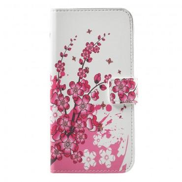 """Divatos nyitható tok """"Flower Bloom"""" Huawei Honor 8 Lite / P8 Lite 2017 készülékekhez"""
