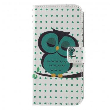 """Divatos nyitható tok """"Sleeping Owl"""" Huawei Honor 8 Lite / P8 Lite 2017 készülékekhez"""