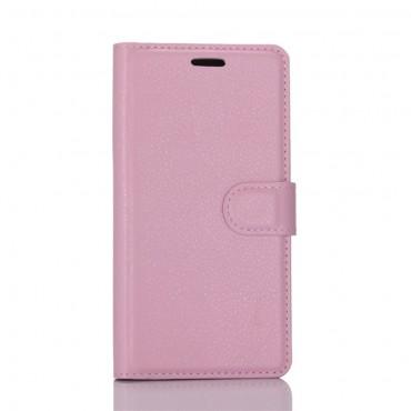 """Elegáns """"Litchi"""" műbőrtárca Huawei P10 készülékekhez – rózsaszín"""