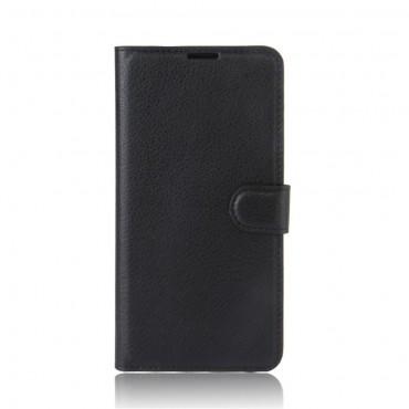 """Elegáns """"Litchi"""" műbőrtárca Huawei P10 Lite készülékekhez – fekete"""